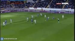 Enlace a GIF: El segundo gol de Asensio. Totalmente on fire