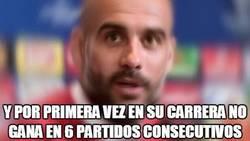 Enlace a Tremenda mala racha de Guardiola