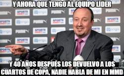 Enlace a Benítez reviviendo al Newcastle