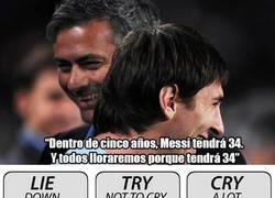 Enlace a Mourinho sorprende con sus palabras hacia Messi