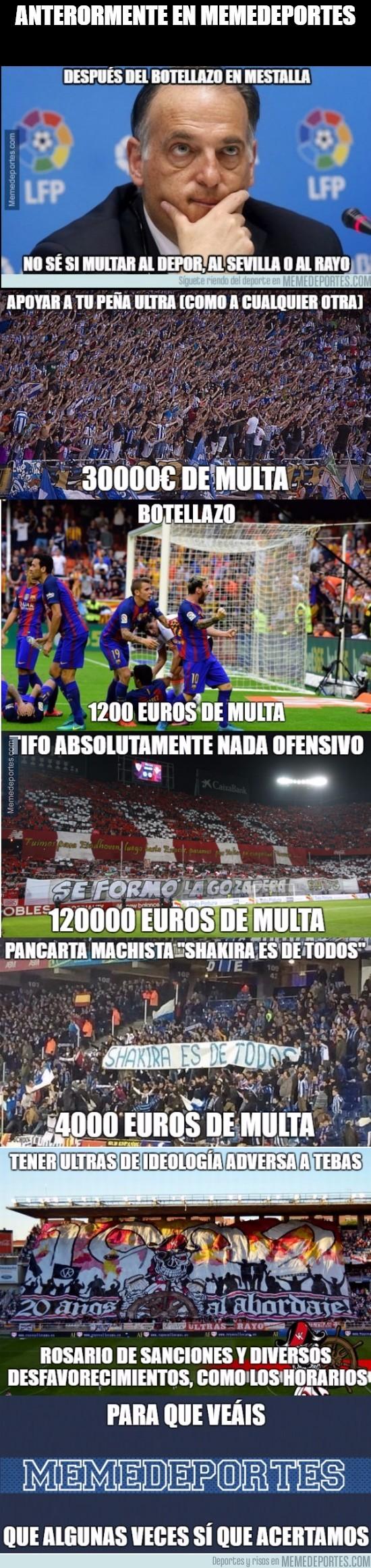 920617 - Sobre sanciones en el fútbol español...