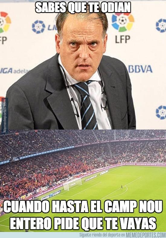 920733 - Tebas gana en odio a todos en La Liga