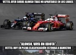 Enlace a Vettel liándola una vez más