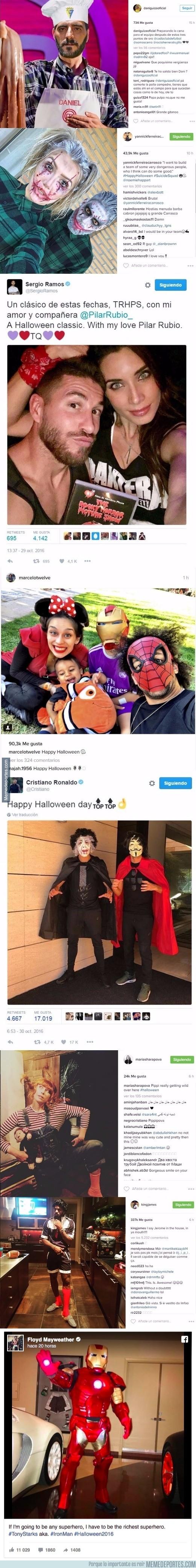 921062 - Los deportistas celebran Halloween en las redes sociales con mayor y menor éxito
