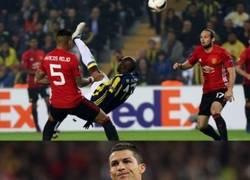 Enlace a Ronaldo no está contento
