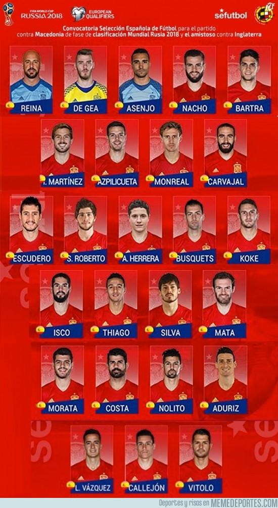 922200 - OFICIAL   Lista de la @SeFutbol para los partidos contra Macedonia y @England