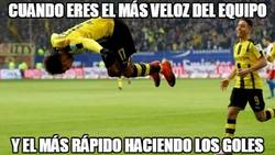Enlace a Aubameyang on fire