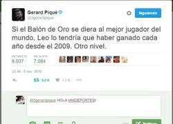 Enlace a El tuit de Piqué tras la exhibición de Messi