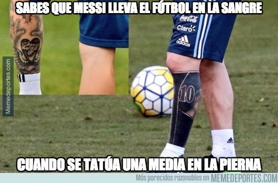 Memedeportes Atención A La Zurda De Messi Y Su Tatuaje Actualizado