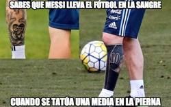 Enlace a Atención a la zurda de Messi y su tatuaje actualizado