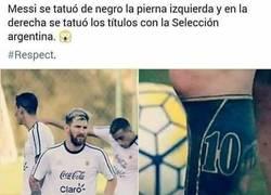 Enlace a El buen gesto de Messi con su selección en su nuevo tatuaje