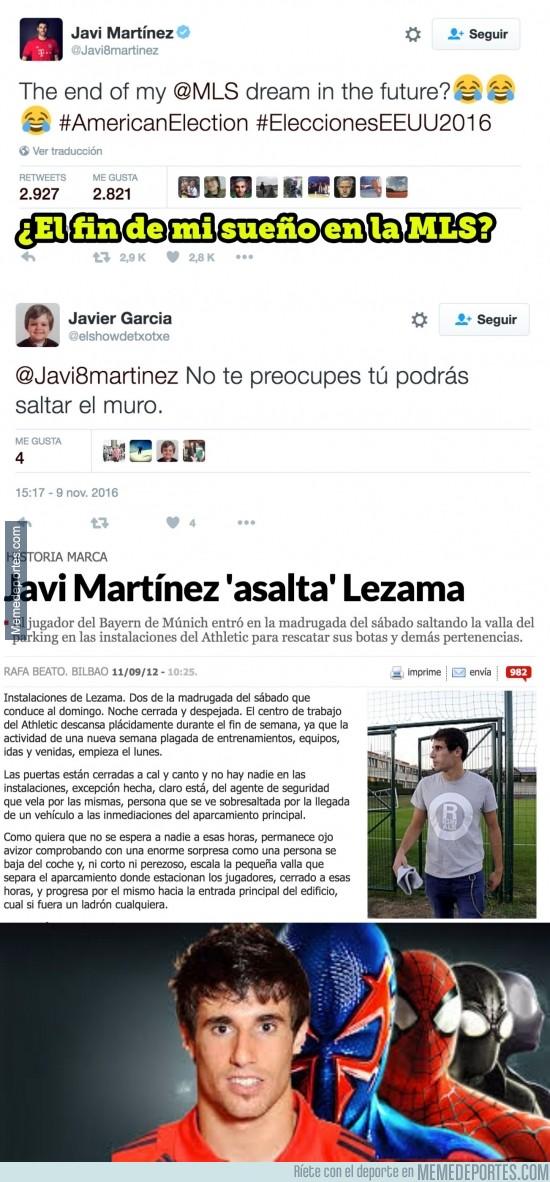 923467 - El zasca que le hace un fan del Athletic a Javi Martínez
