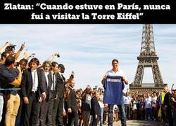 Enlace a Zlatan y la Torre Eiffel
