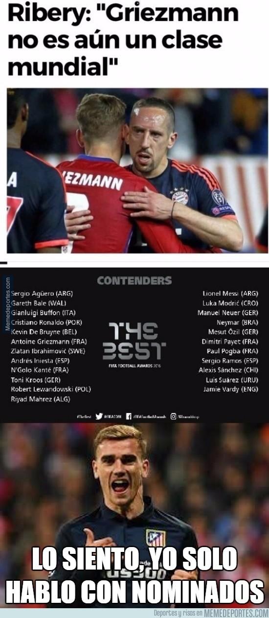 923505 - Ribery se tiene que comer sus palabras tras la nominación de Griezmann