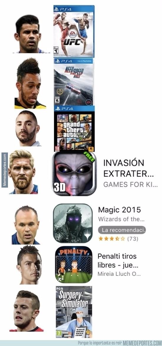 923538 - Los videojuegos preferidos de cada futbolista