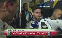 Enlace a Declaraciones de Messi después del partido