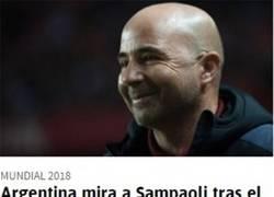 Enlace a Argentina mira a Sampaoli tras la derrota