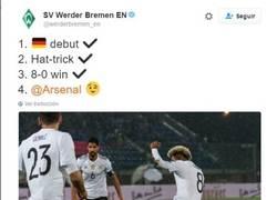 Enlace a ¡Vacilada épica del Werder Bremen al Arsenal en Twitter!