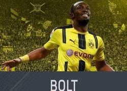 Enlace a Si Bolt terminara jugando en el Borussia, ésta sería su carta del FIFA