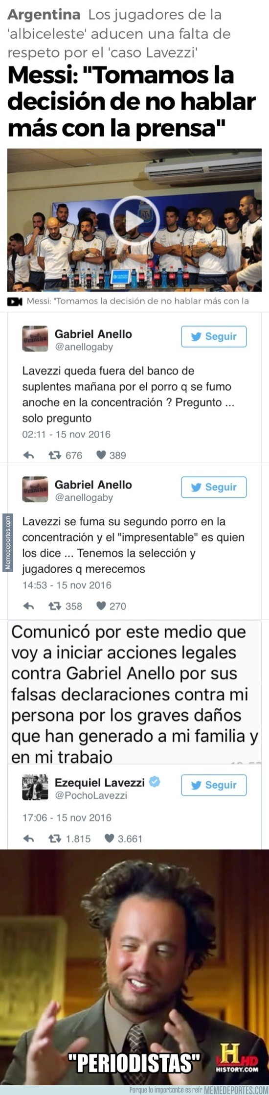 925000 - Así es el periodismo de calidad de Argentina y el porqué Lavezzi va a denunciar