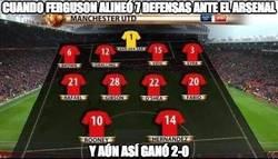 Enlace a Cuando Ferguson alineó 7 defensas ante el Arsenal