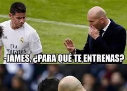 Enlace a Zidane se la tiene jurada a James
