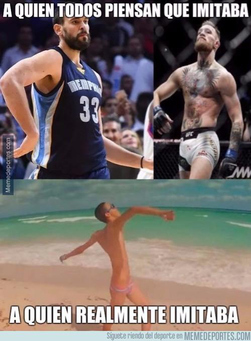 925353 - Todos piensan que Marc Gasol imitaba a McGregor, pero...