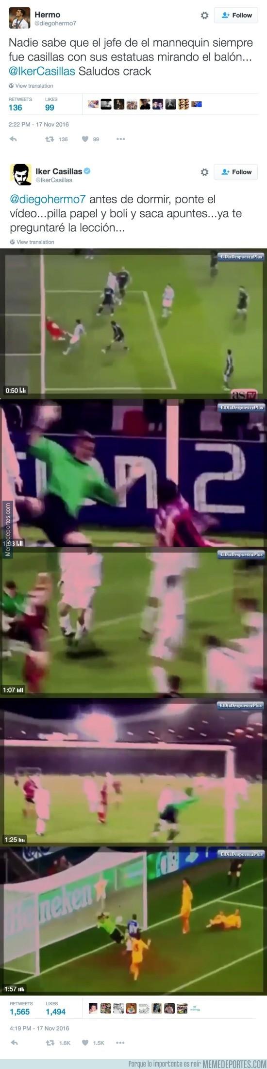 925402 - La callada de boca de Casillas a un tuitero tras reírse diciendo que era el creador del Mannequin