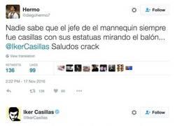Enlace a La callada de boca de Casillas a un tuitero tras reírse diciendo que era el creador del Mannequin