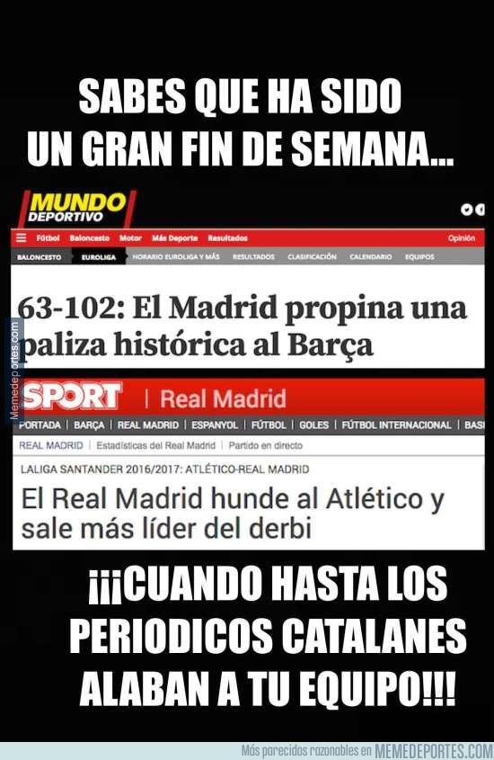 925977 - Sabes que ha sido un gran fin de semana para el Madrid cuando...