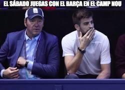 Enlace a Gerard Piqué viendo la final del Masters de tenis con el presidente de Estados Unidos