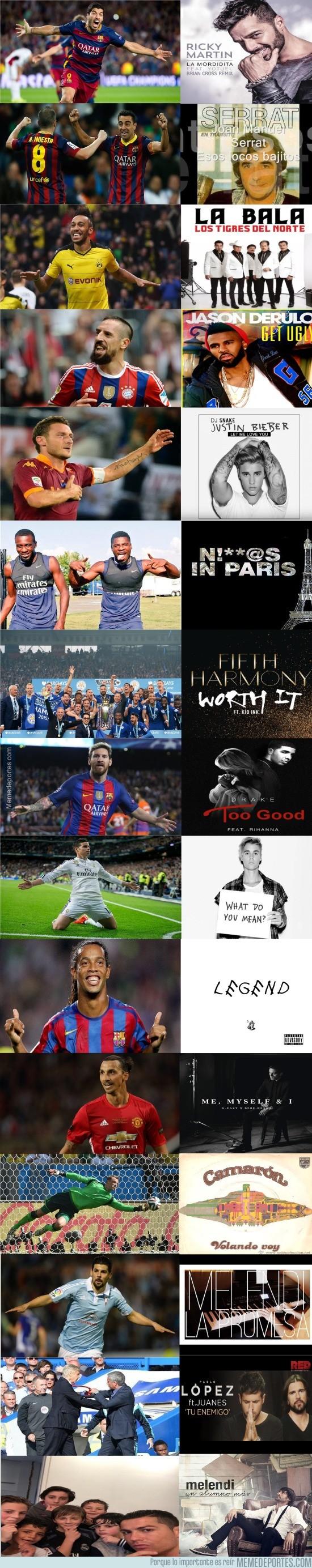 926338 - Cada futbolista tiene una canción que le va como anillo al dedo