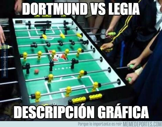 926725 - Dortmund vs Legia, descripción gráfica