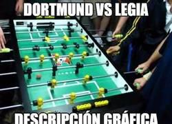 Enlace a Dortmund vs Legia, descripción gráfica