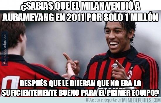 926787 - Pierre Aubameyang, el peor error del AC Milan
