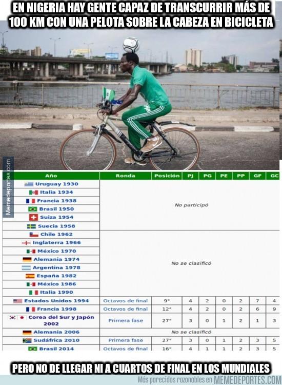 927048 - En Nigeria hay gente capaz de transcurrir más de 100 KM con una pelota sobre la cabeza en bicicleta