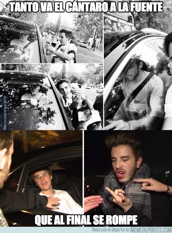 927062 - El chico que fue golpeado por Justin Bieber ya había intentando lo mismo con Gareth Bale