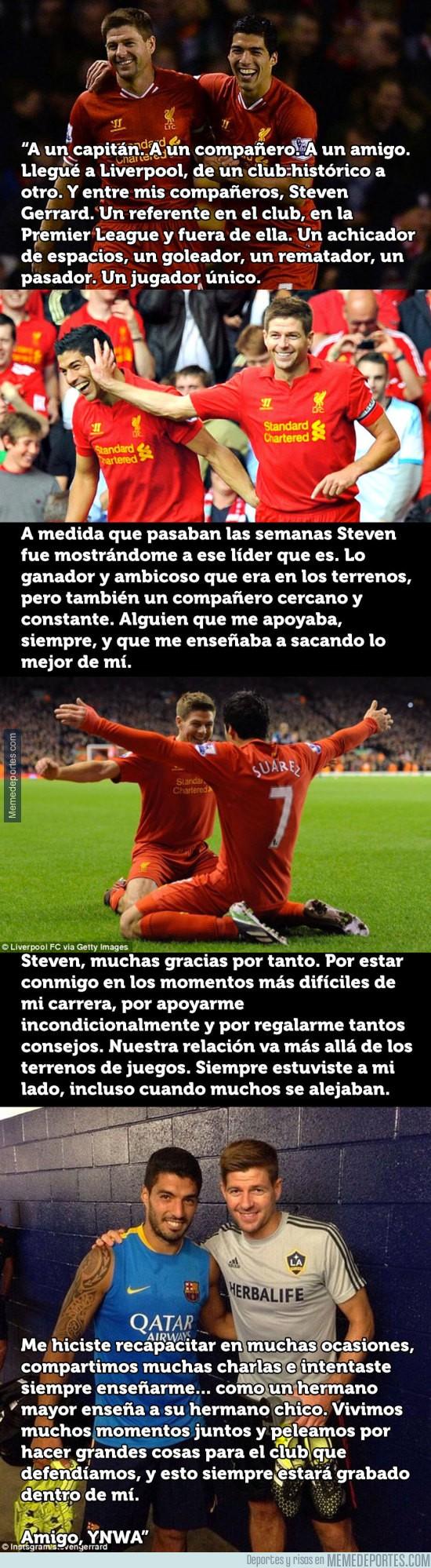 927315 - La emotiva carta de Luis Suárez a su amigo Steven Gerrard