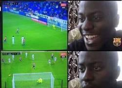 Enlace a Reacción de los culés con el penalti fallado del Sporting al Madrid