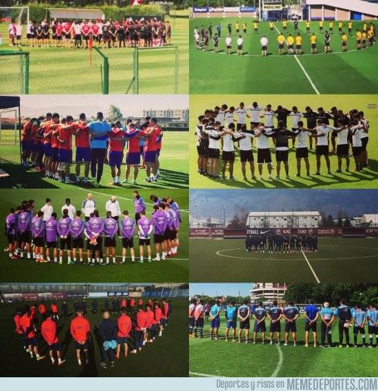 928439 - Entrenamientos de esta mañana, el mundo del fútbol unido ante la tragedia