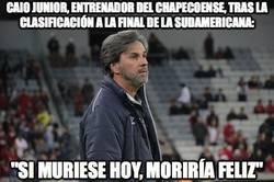 Enlace a Caio Junior, entrenador del chapecoense, tras la clasificación a la final de la sudamericana: