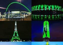Enlace a El mundo, teñido de verde en honor al Chapecoense