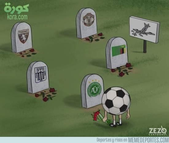 928722 - El fútbol llorando los accidentes aéreos