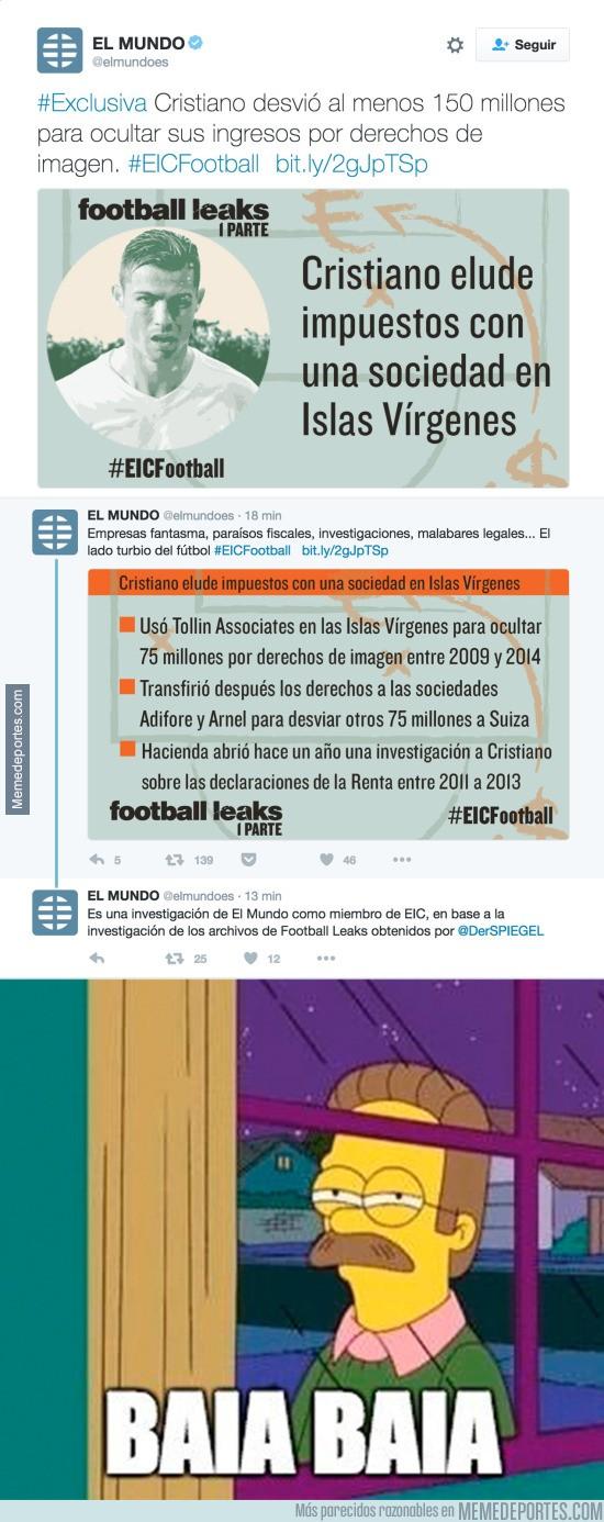 929159 - ESCÁNDALO MUNDIAL: Cristiano Ronaldo desvió 150 millones de euros en derechos de imagen