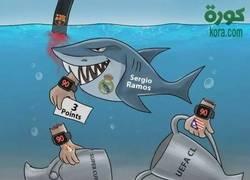 Enlace a Sergio Ramos es todo un tiburón
