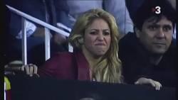 Enlace a VÍDEO: Las reacciones y caras de Shakira durante el clásico son impagables