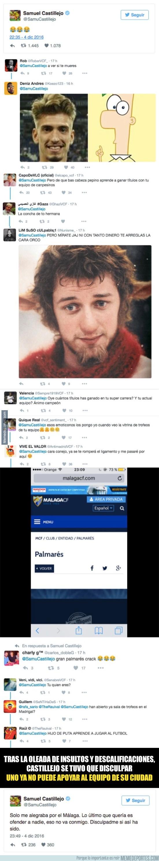 930214 - Samu Castillejo hace un Piqué, lo amenazan de muerte y tiene que rectificar