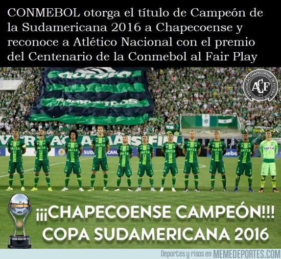 930253 - OFICIAL: Chapecoense campeón de la Copa Sudamericana 2016