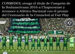 Enlace a OFICIAL: Chapecoense campeón de la Copa Sudamericana 2016