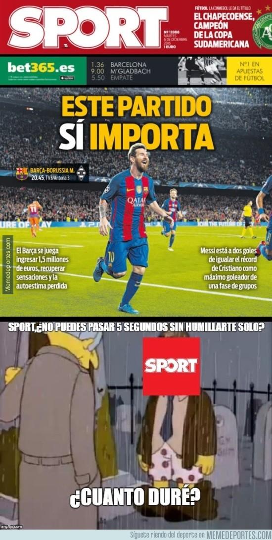 930328 - Nos negamos a creer que Sport diga esto de verdad en su portada de hoy